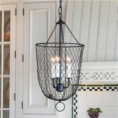 Chicken Wire Chandelier Chicken Wire Hanging Lantern Lighting Lighting