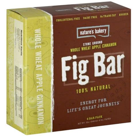 Nature S Bakery Whole Wheat Fig Bar Original Box Of 6 Natures Bakery Whole Wheat Apple Cinnamon Fig Bars Pack