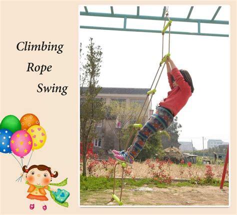 rope swing games 6 rungs 2m pe rope children toy swing max load 120kg