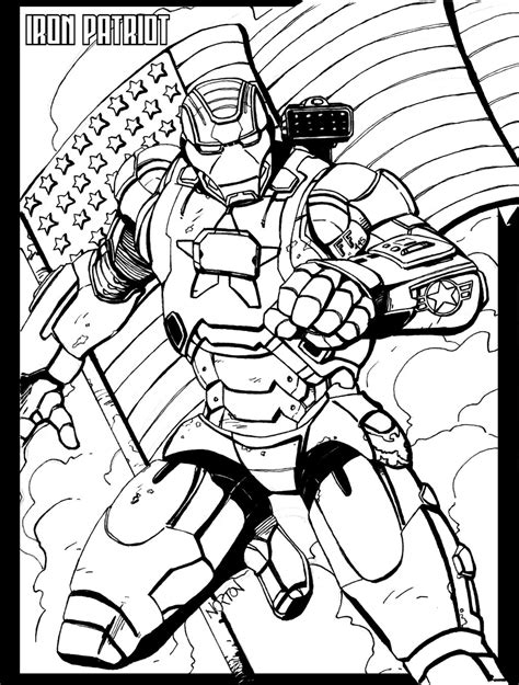 iron man patriot coloring pages iron patriot by takingbackshawn on deviantart