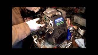honda gc160 gc190 carb rebuild gcv160 part 1 of 2 youtube