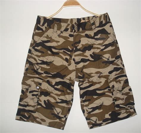 camo shorts celebrity men camouflage military short pants combat cargo