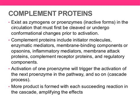 s protein complement 32 proteins of the complement system