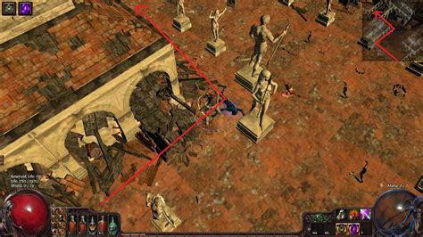 path of exile auction house how to walk through statues in marketplace without waking them up pathofexile