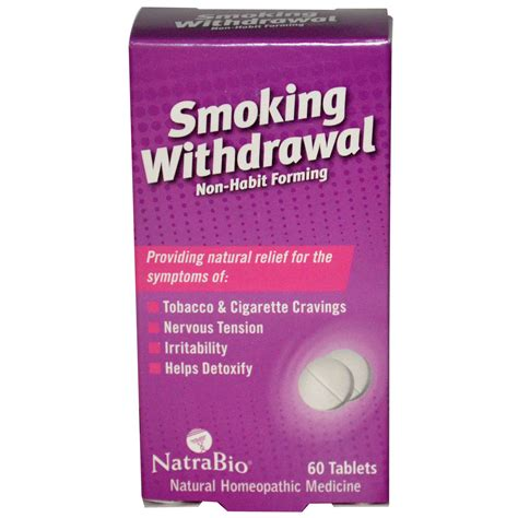 Tobacco Detox Tablets natrabio withdrawal 60 tablets iherb