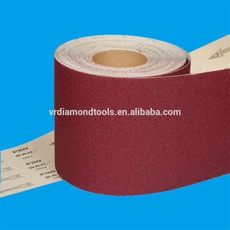 Las Roll Grit 60 Per Meter aluminum oxide abrasive sand paper roll emery cloth roll