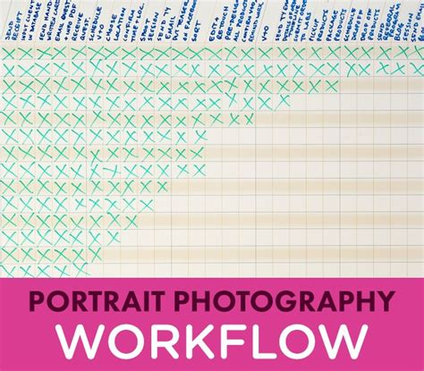 photographic workflow portrait photography workflow