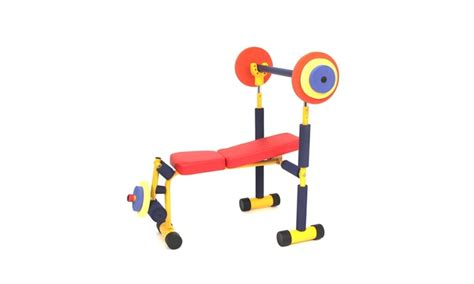 fun and fitness weight bench for kids fun and fitness for kids weight bench groupon