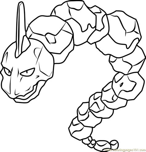 pokemon coloring pages golurk onix pokemon coloring page free pok 233 mon coloring pages