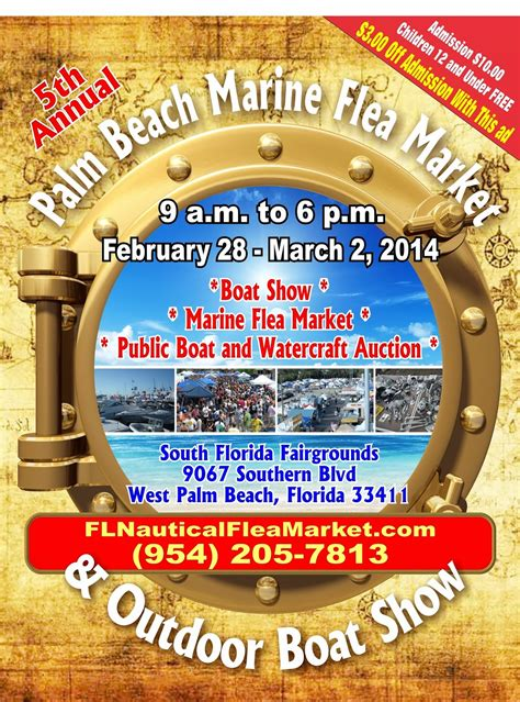 west palm beach boat show vendors florida marine and nautical flea markets the 5th annual