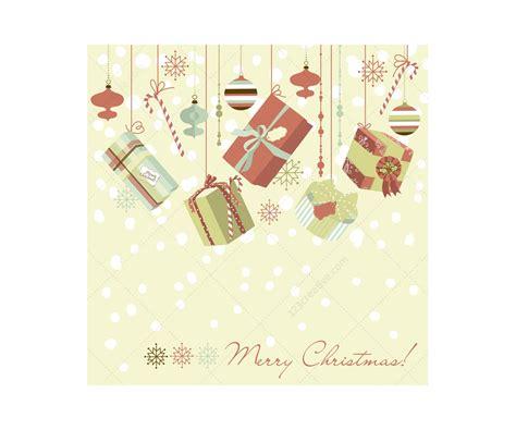 retro christmas card vector illustrations creativecom