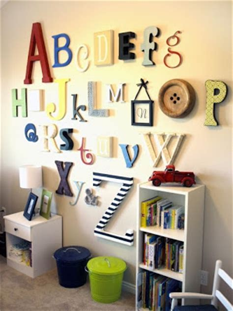 Alphabet Decor by Planet Alphabet Wall Decor For The Playroom Or Nursery