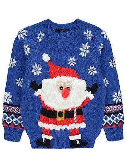 waitrose child christmas jumper santa claus jumper george