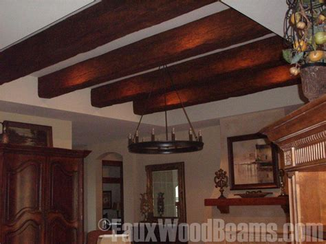 Wood Ceiling Beams For Sale by Faux Beam Tray Ceiling Update Traditional Family Room