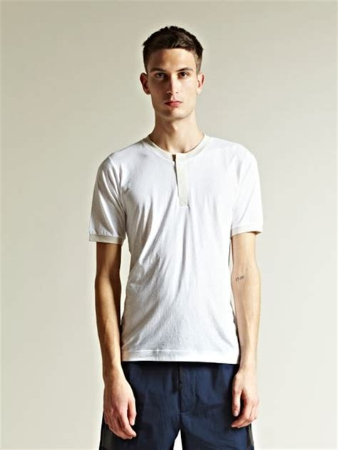 dries noten mens henley t shirt in white for lyst