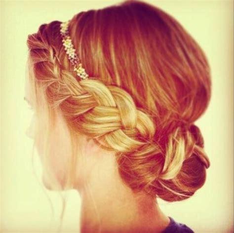 headband braid with a doughnut bun 14 glamorous hairstyles with headbands pretty designs