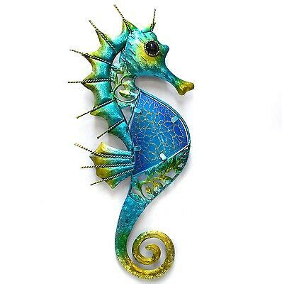 iron fish wall hanging tropical seahorse fish metal wall hanging garden iron