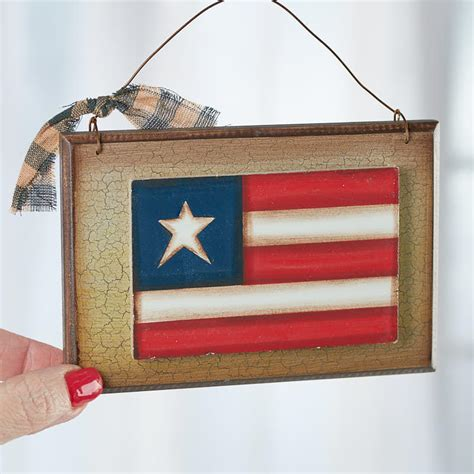 american flag home decor primitive american flag plaque sign americana decor
