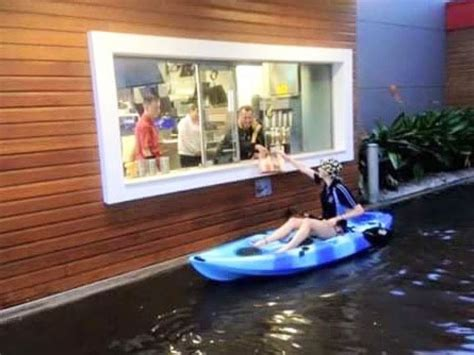boat shop tuggerah flooded drive through of the mcdonalds at port lincoln
