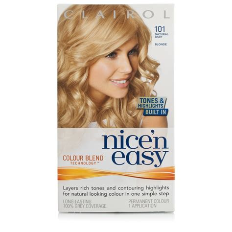 how to use nice n easy hair color nice n easy 101 baby blond beauty 163 5 49 chemist direct