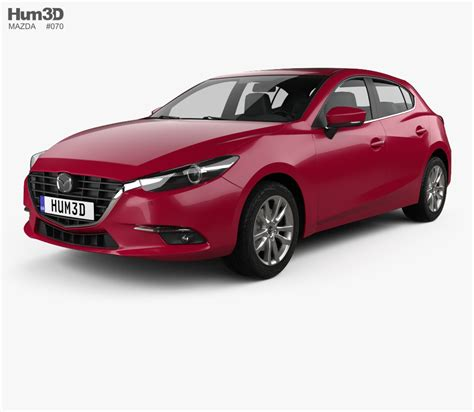 mazda models 2017 mazda 3 bm hatchback 2017 3d model hum3d