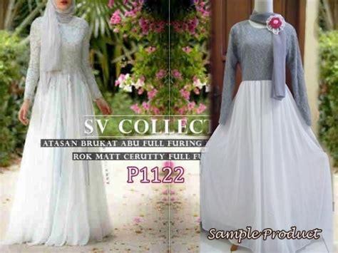 160 Baju Wanita Gamis Maxi Dress baju gamis pesta cellini brokat p1122 gaun terusan
