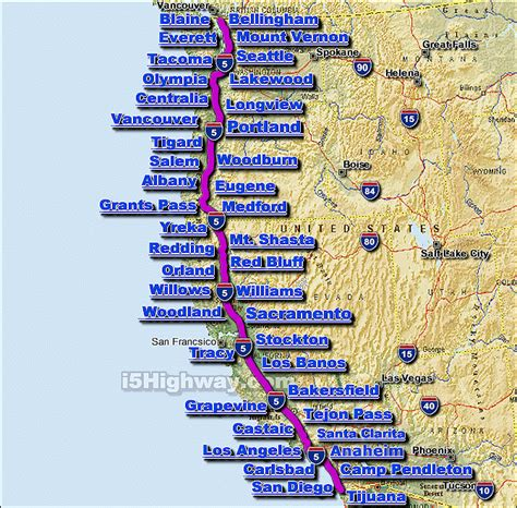 map of interstate 5 through oregon i 5 interstate 5 road maps traffic news