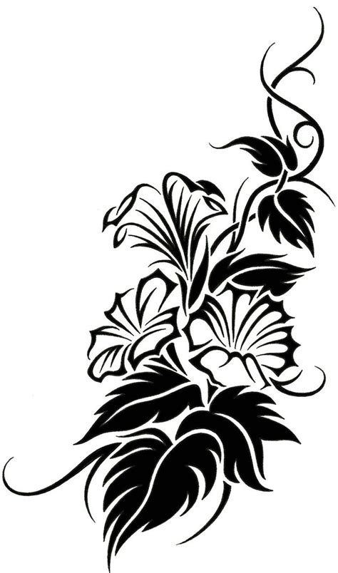 floral tribal vine tattoo design clipart best clipart best