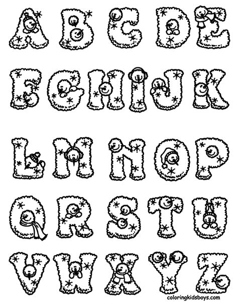 alphabet chart coloring page christmas color by letter new calendar template site