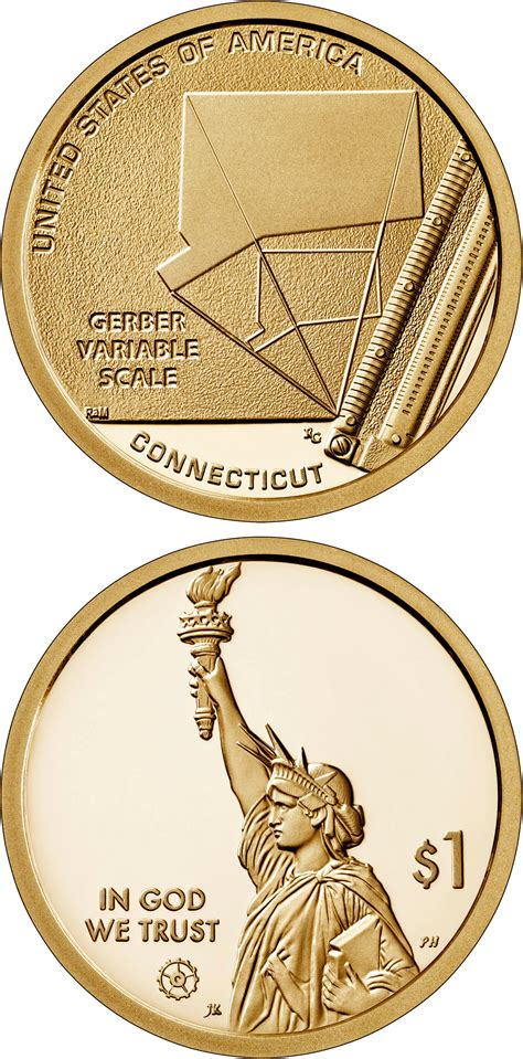 dollar coin connecticut gerber variable scale usa