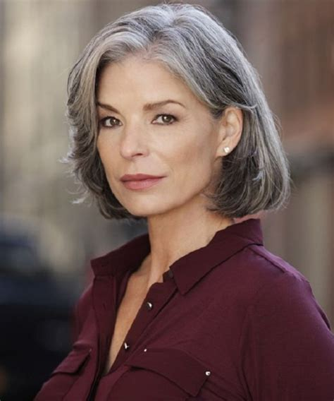 chin length grey hairstyles classier chin length grey hairstyles 2018 for older women
