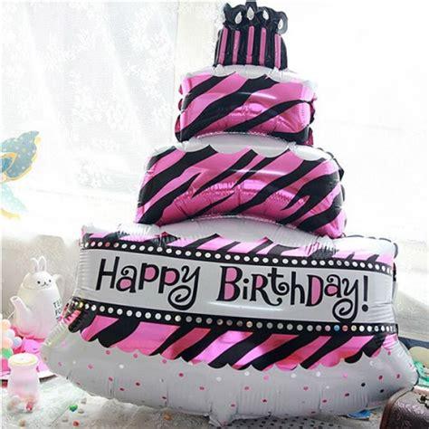 balon foil kue pink besar pestaseru toko grosir