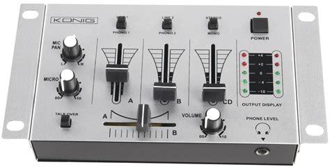 Mixer Elektronik kn djmixer10 dj mixer basic at reichelt elektronik
