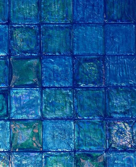 two tone iridescent tile blue glass tile wallpaper