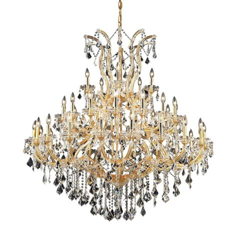 lighting 41 light gold chandelier with clear
