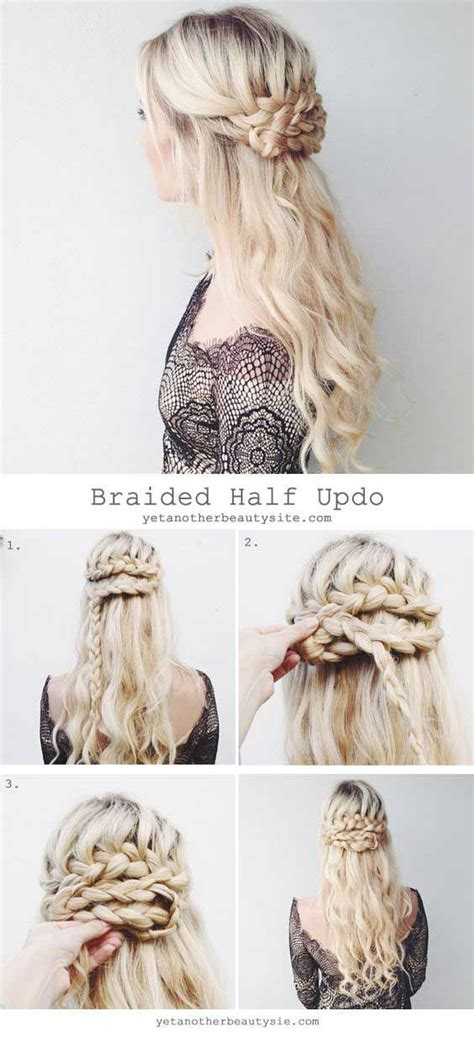 down hairstyles for ball 18 easy half up half down hairstyle tutorials for prom