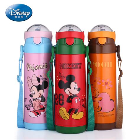Vacuum Bottle Termos Karakter Mickey Mouse 500ml Stainless disney dz 8049 stainless steel 500ml mickey thermos cup thermal cup straw tea cup insulated