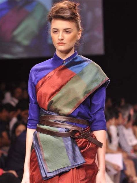 26158 Casual Dress t shirt sarees casual and convenient t shirt blouses utsavpedia