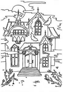 haunted mansion coloring pages free printable haunted house coloring pages for kids
