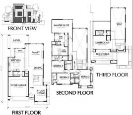modern townhouse floor plans for sale