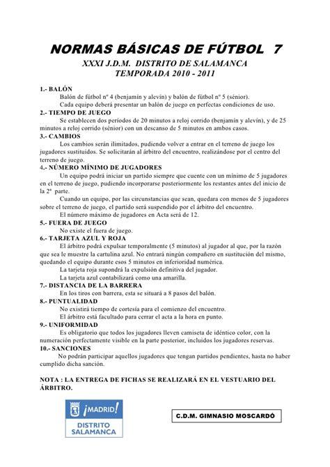 preguntas basicas sobre futbol normas de f 250 tbol 7