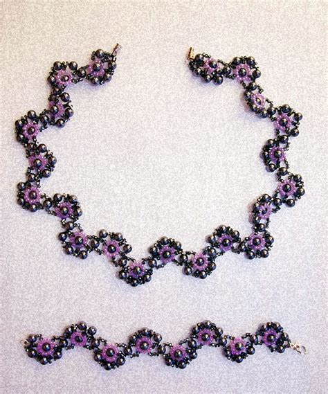 free jewelry patterns free pattern for necklace and bracelet charlize magic