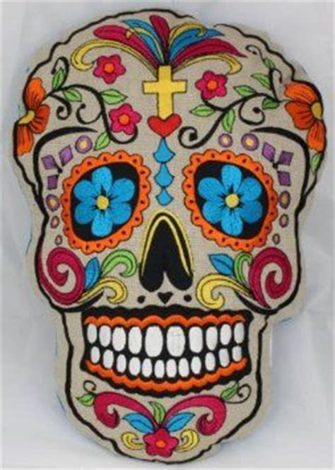 My Home Decor Style Old Sugar Skull Decoration Pillow About 35cm X 30cm