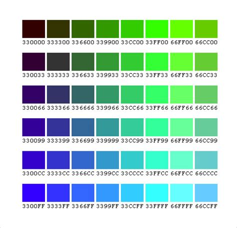sle pantone color chart 28 color chart with names forms and templates fillable