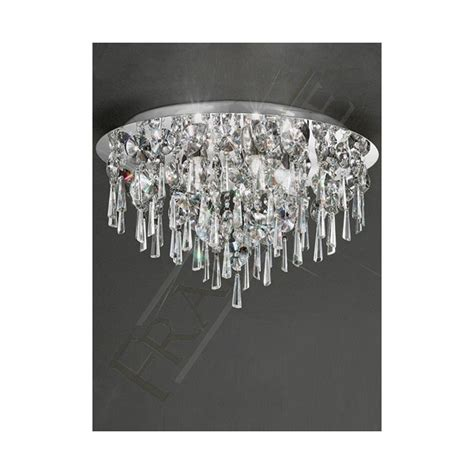 crystal lights for bathroom cf5720 bathroom 4 light crystal ceiling light