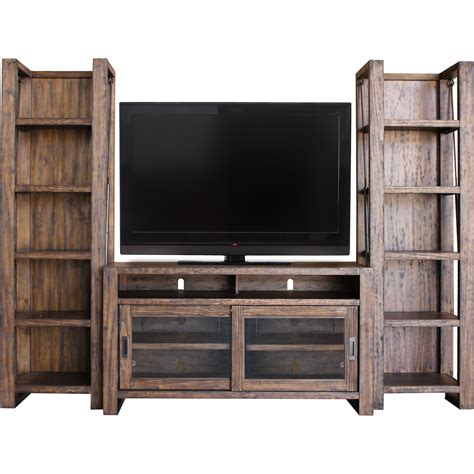 parker house furniture parker house allister 55 quot tv console and bookcase piers with sliding doors
