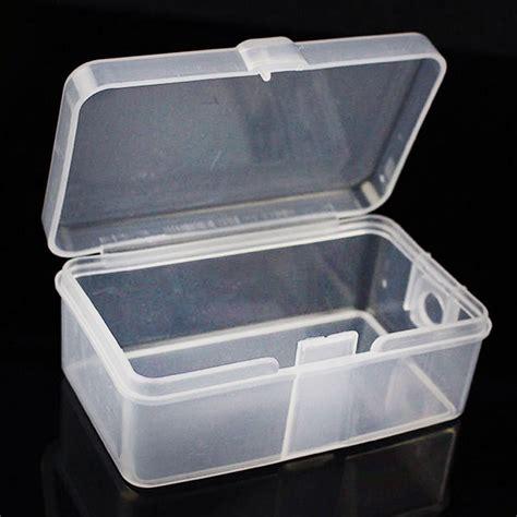 Box Plastik X 10 2x square clear plastic transparent with lid storage box