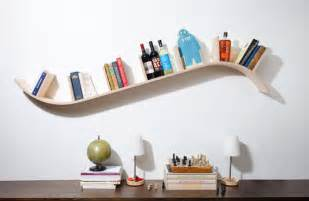 Modern curved bookshelf by perfekte velle contemporary display and