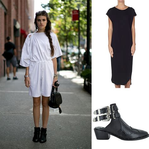 go cool and unstructured in a tunic or tank dress and flat