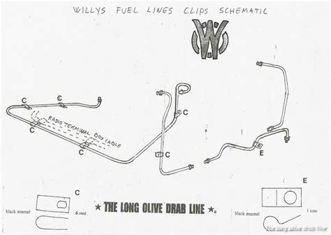 Jeep Fuel Line Fuel Line Set For Willys Mb The Olive Drab Line